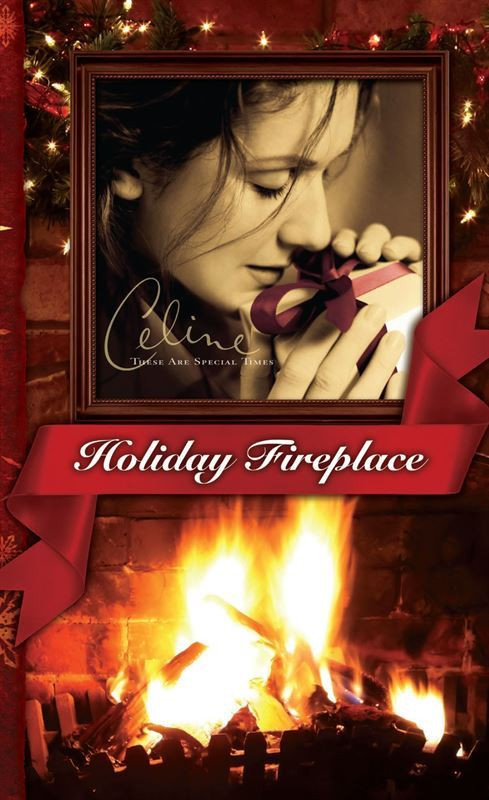 Christmas Fireplace Dvd  Celine Dion Boutique These Are Special Times Holiday