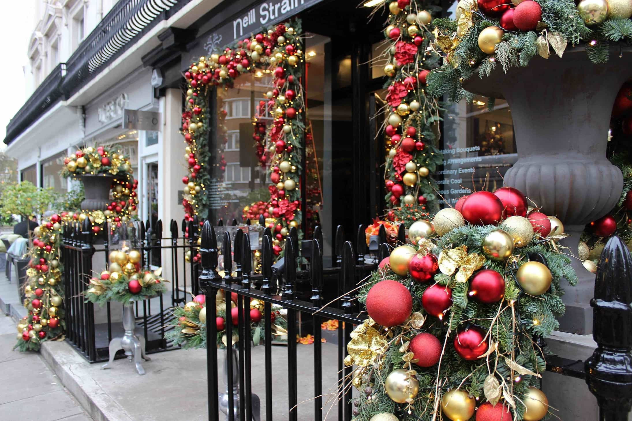 Christmas Flower Delivery  Christmas Installation 2015 by Neill Strain The Smell of