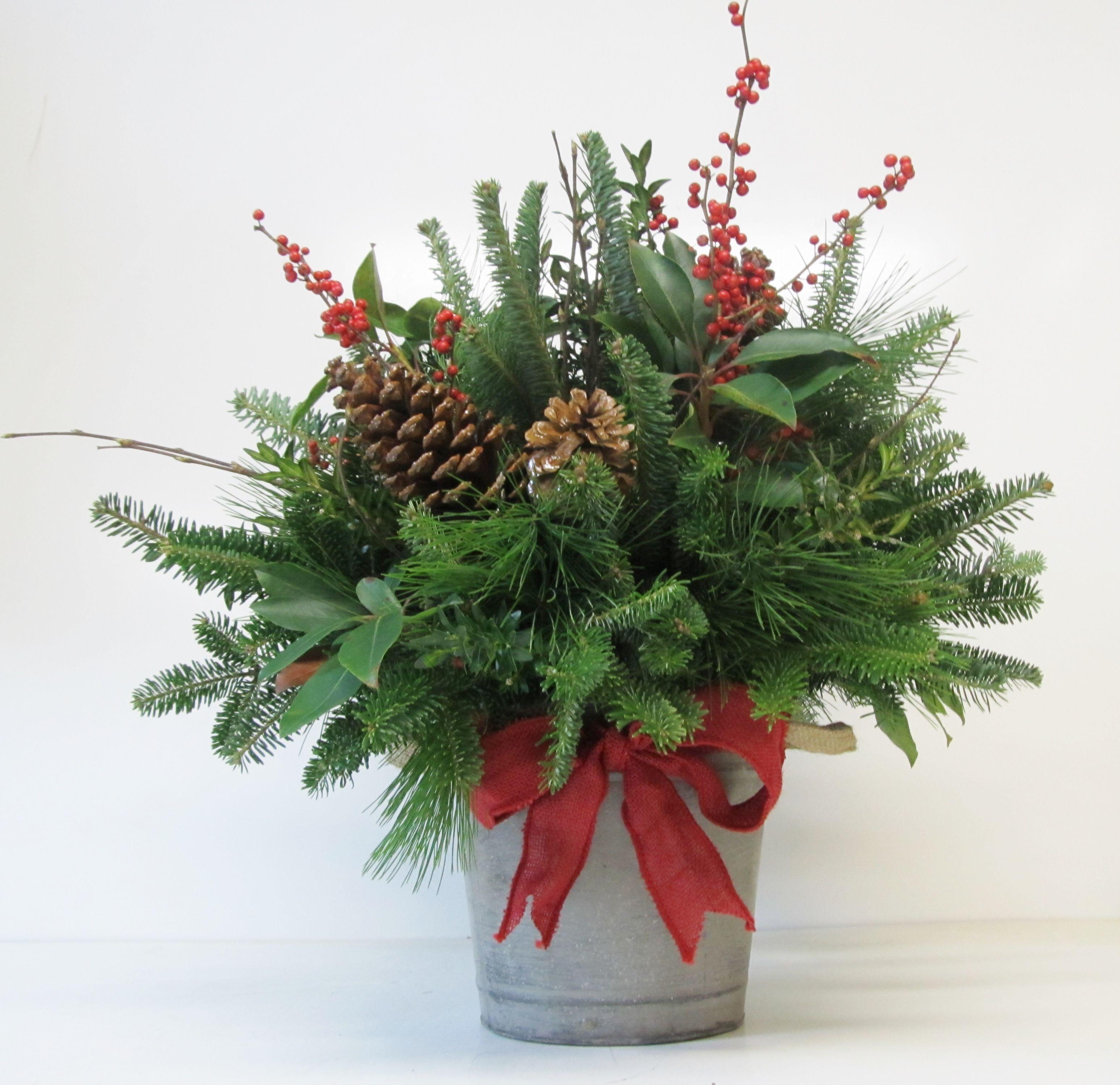 Christmas Flower Images  Christmas Arrangements Assorted Greenery Arrangements