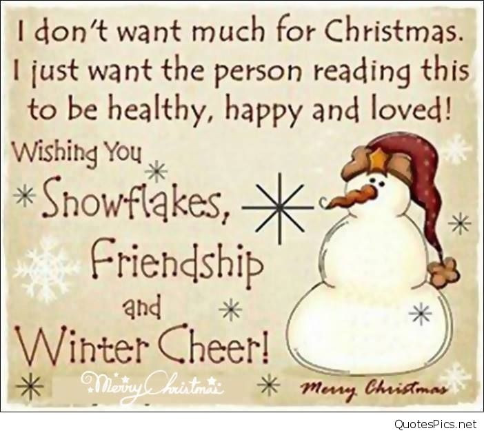 Christmas Friend Quotes  Cute funny Merry Christmas sayings images & cards 2016 2017