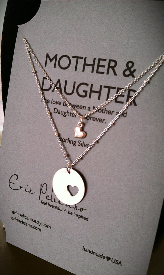 Christmas Gift Ideas For Moms From Daughters  Mother Daughter necklace Set Christmas for Mom Mother of