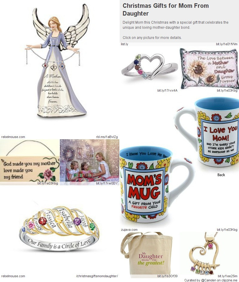 Christmas Gift Ideas For Moms From Daughters  Great Christmas Gifts from Daughter to Mother