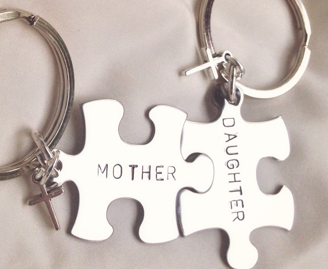 Christmas Gift Ideas For Moms From Daughters  Mother Daughter Gifts Mother Daughter Keychain Boyfriend