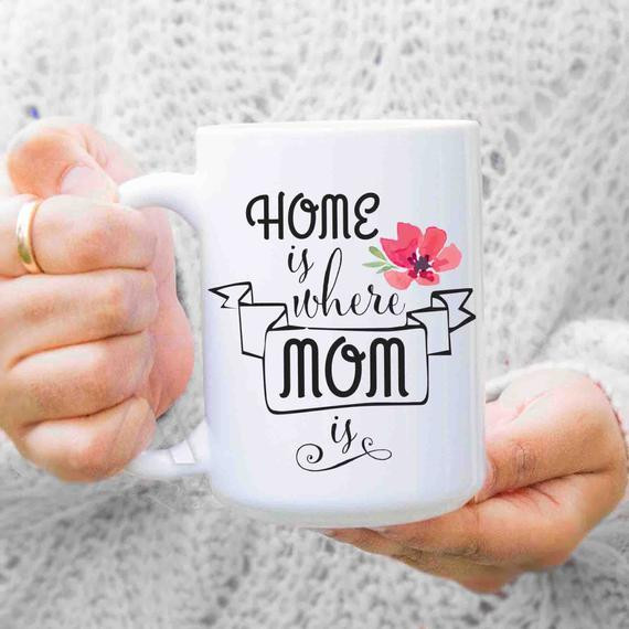 Christmas Gift Ideas For Moms From Daughters  ts for mom from daughter Home is where mom is