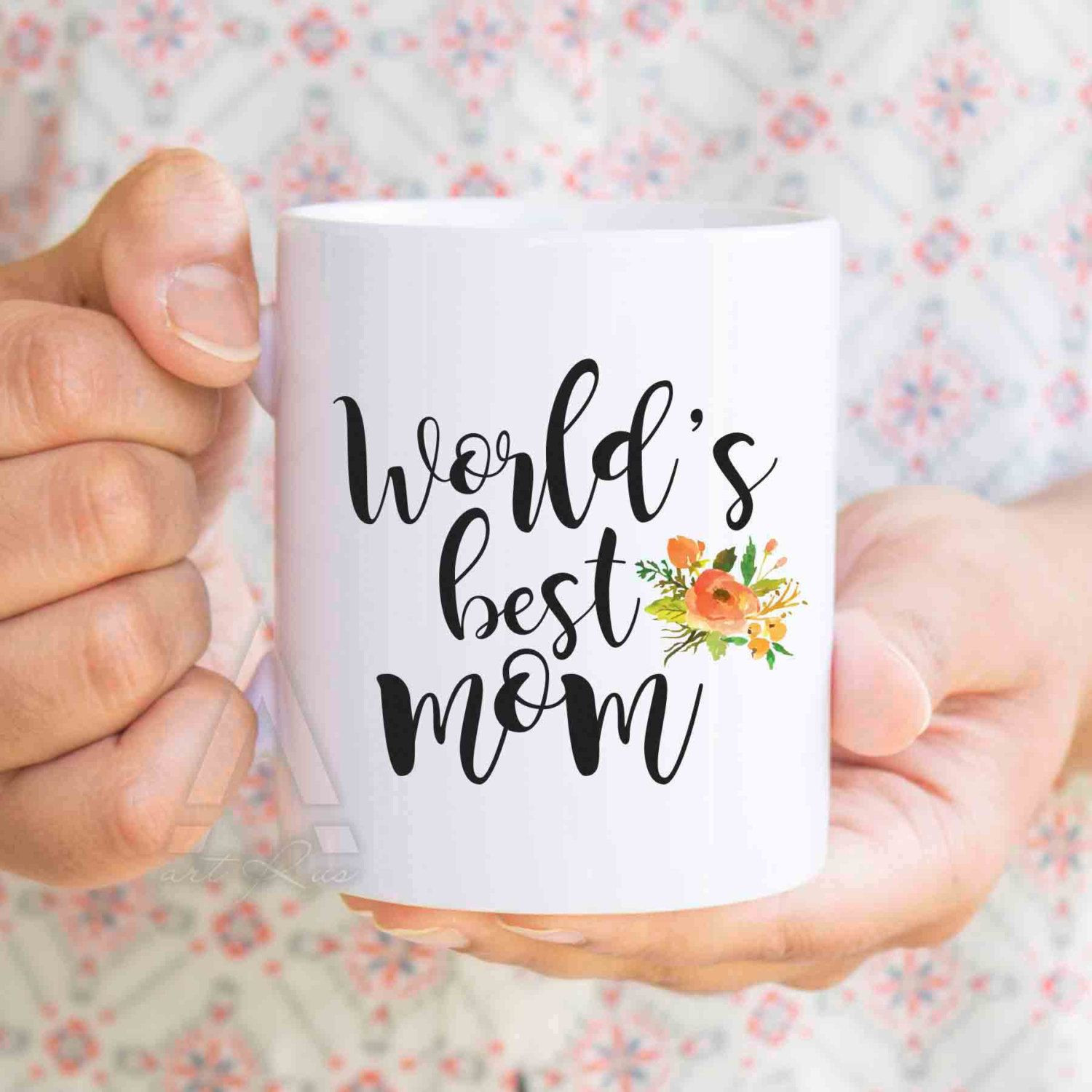 """Christmas Gift Ideas For Moms From Daughters  Christmas ts for mom """"World s best mom"""" coffee mug mom"""