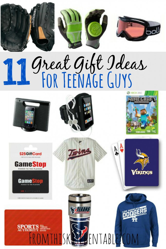 Christmas Gift Ideas For Teenage Guys  Gift Ideas for Teenage Boys From This Kitchen Table