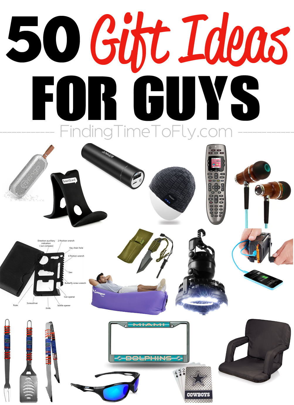 Christmas Gift Ideas For Teenage Guys  50 Gifts for Guys for Every Occasion Finding Time To Fly