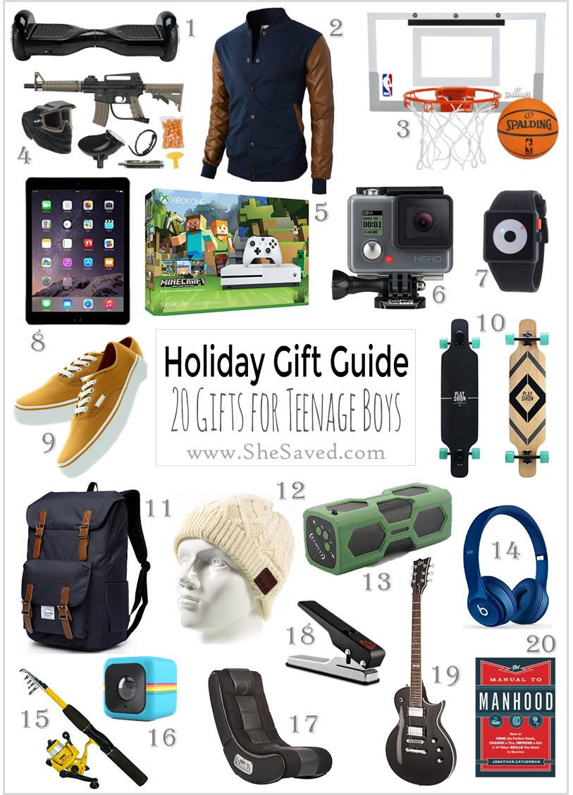 Christmas Gift Ideas For Teenage Guys  HOLIDAY GIFT GUIDE Gifts for Teen Boys SheSaved