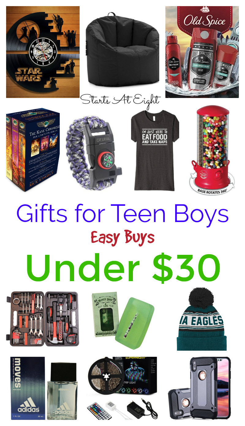 Christmas Gift Ideas For Teenage Guys  Gifts for Teen Boys Easy Buys Under $30 StartsAtEight