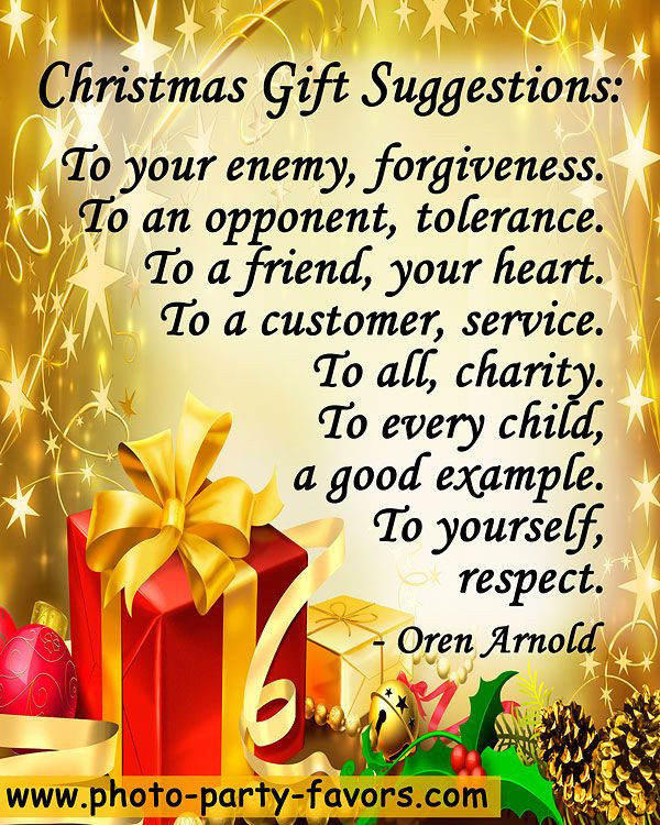"""Christmas Gift Quotes  """"Christmas Gift Suggestions To your enemy forgiveness"""