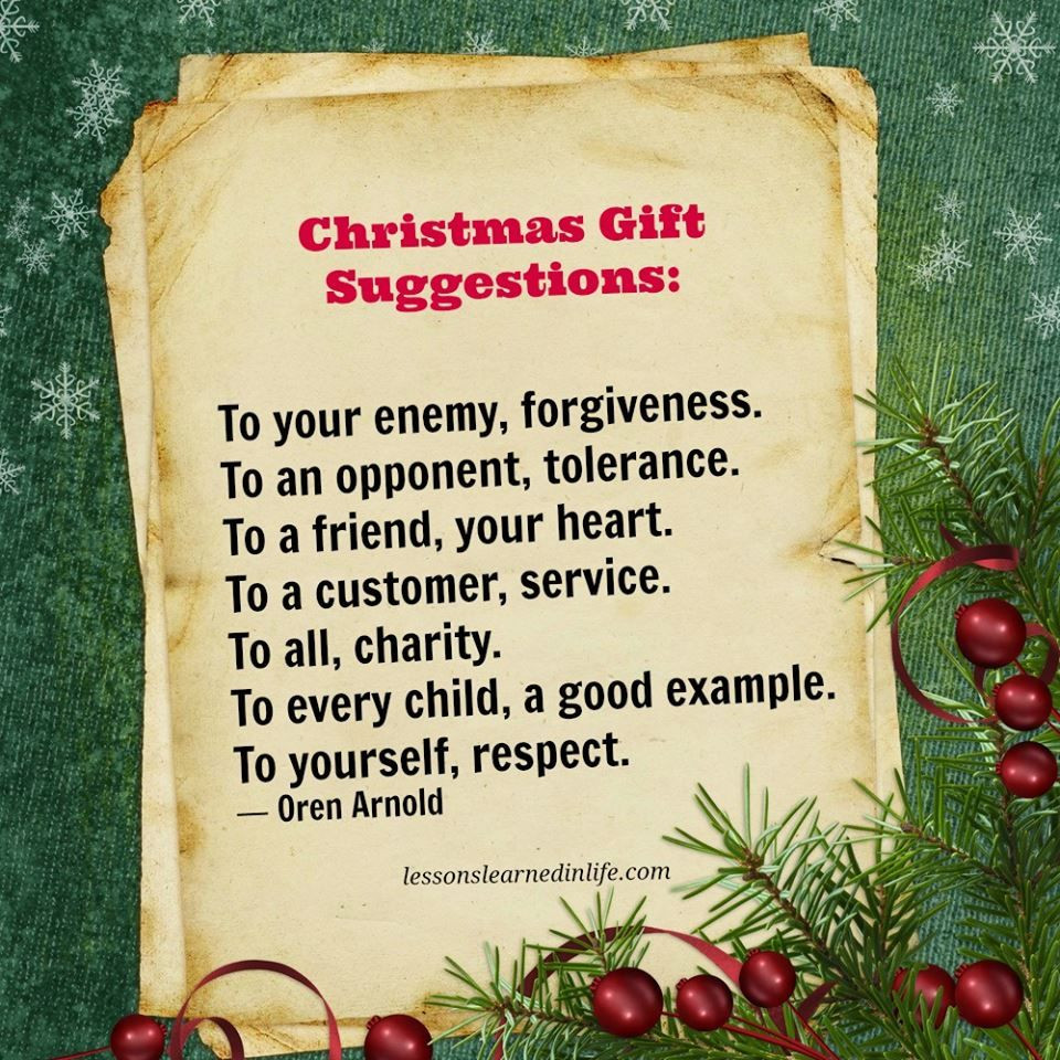 Christmas Gift Quotes  Christmas Gift Suggestion Quote s and