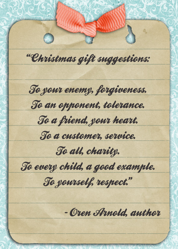 Christmas Gift Quotes  Quote of the Day Christmas ts