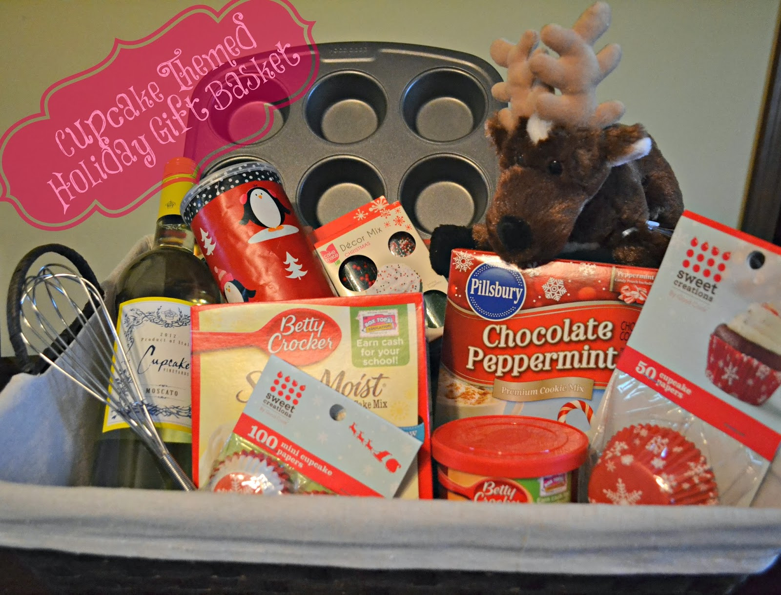 Christmas Gift Theme Ideas  Gift Basket Shopping and Cupcake Batter Cookies The