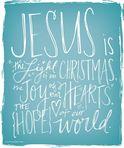 Christmas Jesus Quote  Religious Christmas Quotes About Light QuotesGram