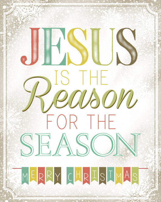 Christmas Jesus Quote  He is the reason for the season Don't deny him like