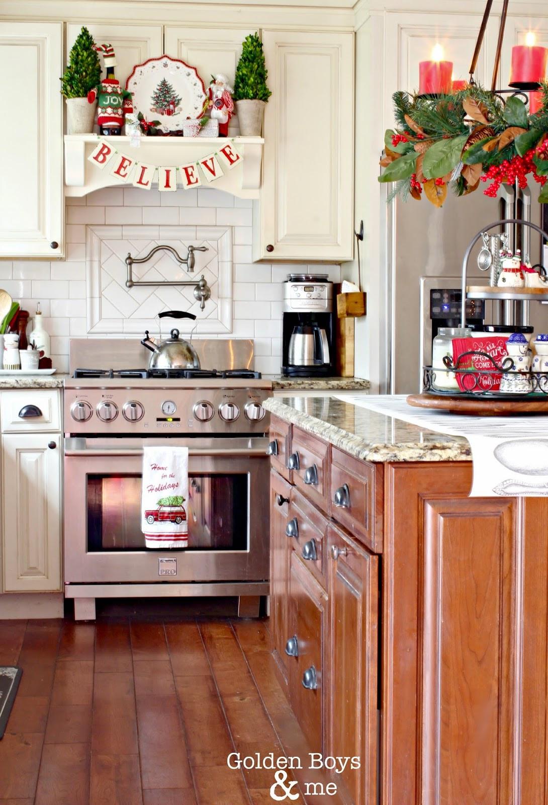 Christmas Kitchen Decor  Golden Boys and Me Holiday Home Tour 2014