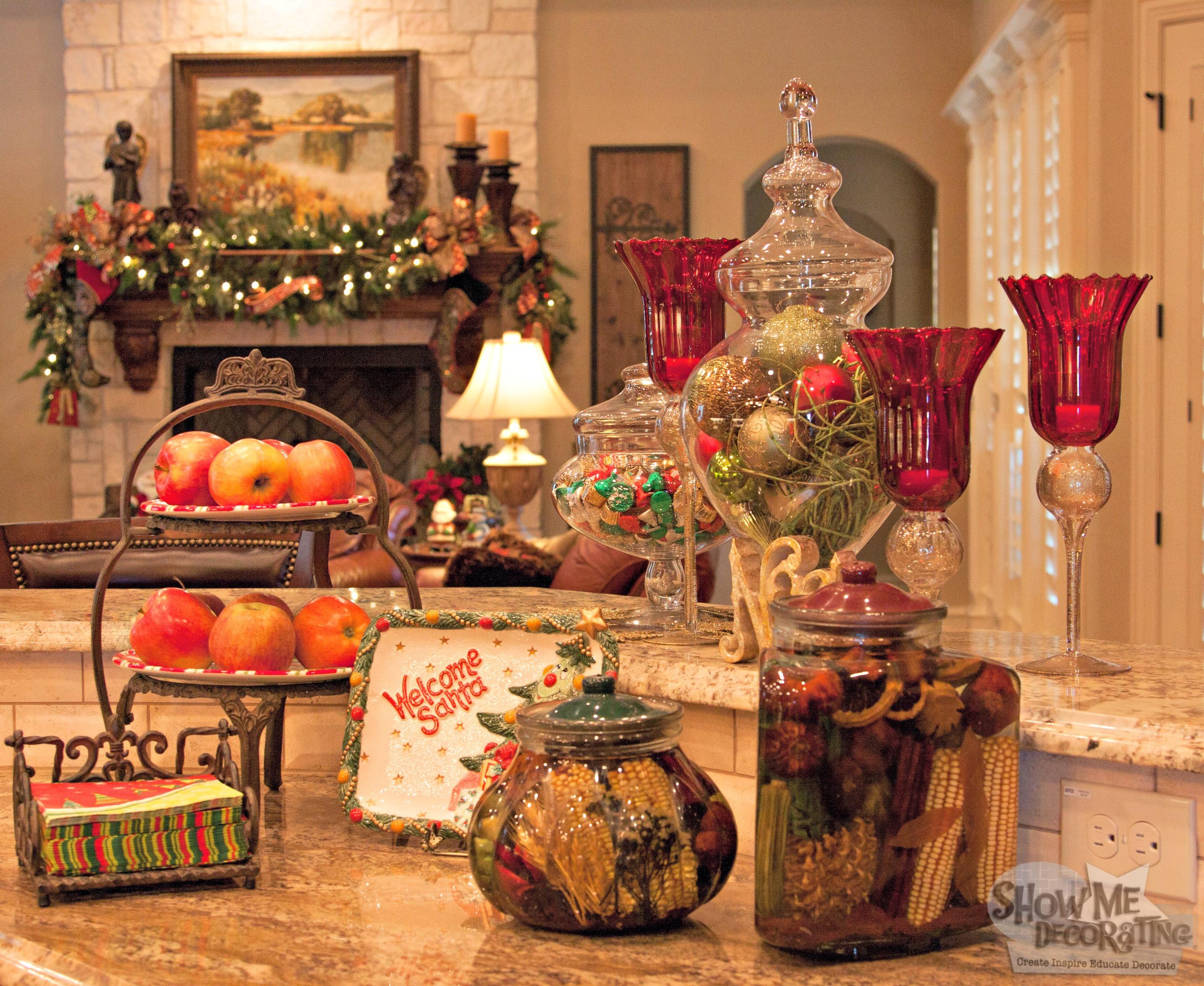 Christmas Kitchen Decor  Show Me Decorating