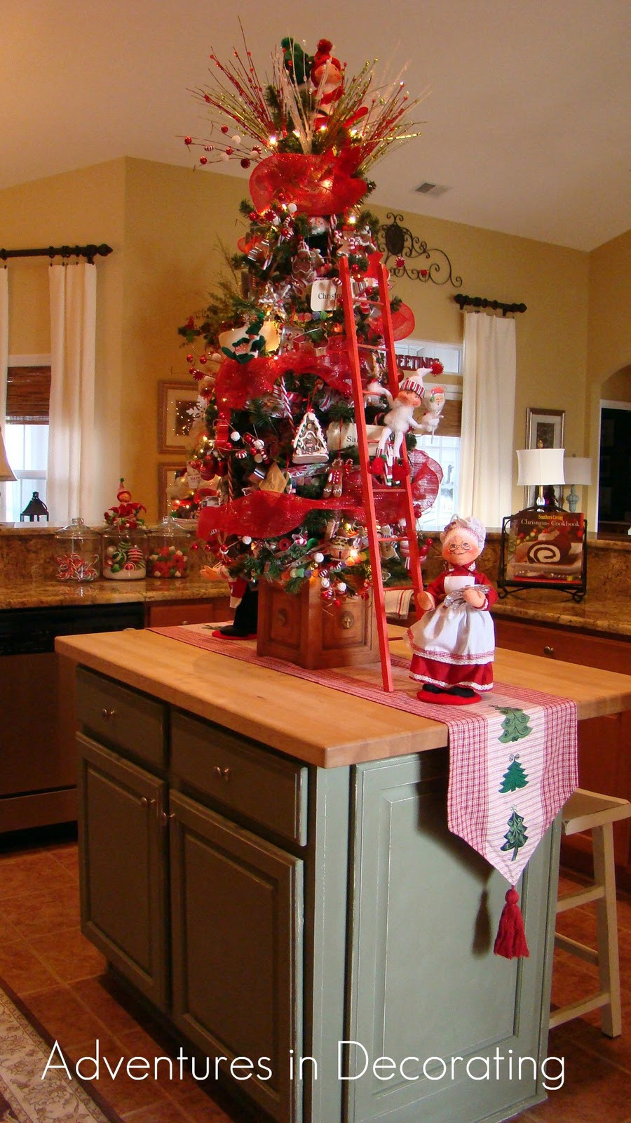Christmas Kitchen Decor  Adventures in Decorating Whimsical Christmas Kitchen