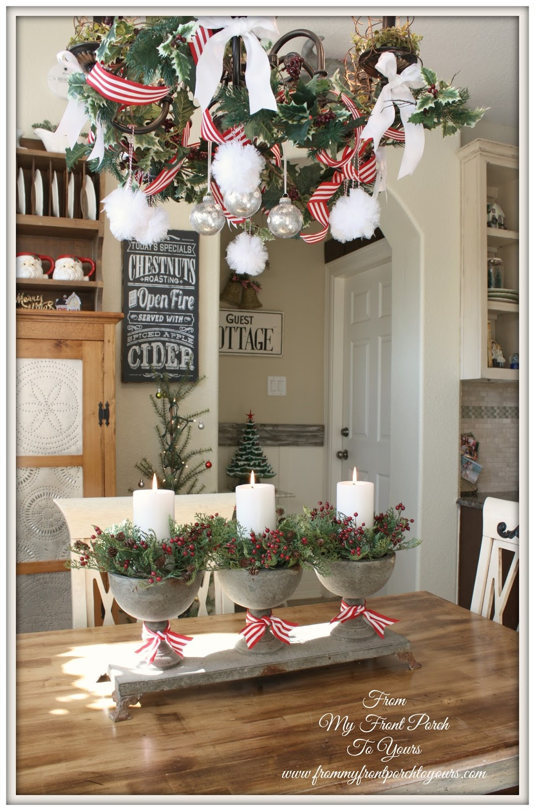 Christmas Kitchen Decor  From My Front Porch To Yours French Farmhouse Holiday