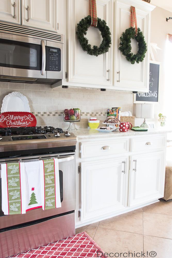 Christmas Kitchen Decor  Holiday Kitchen Home Tour