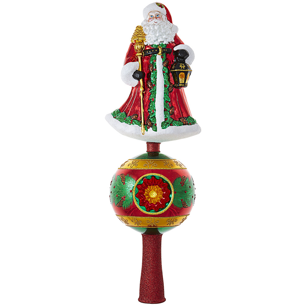 Christmas Lamp Finials  Father Christmas Finial by Christopher Radko