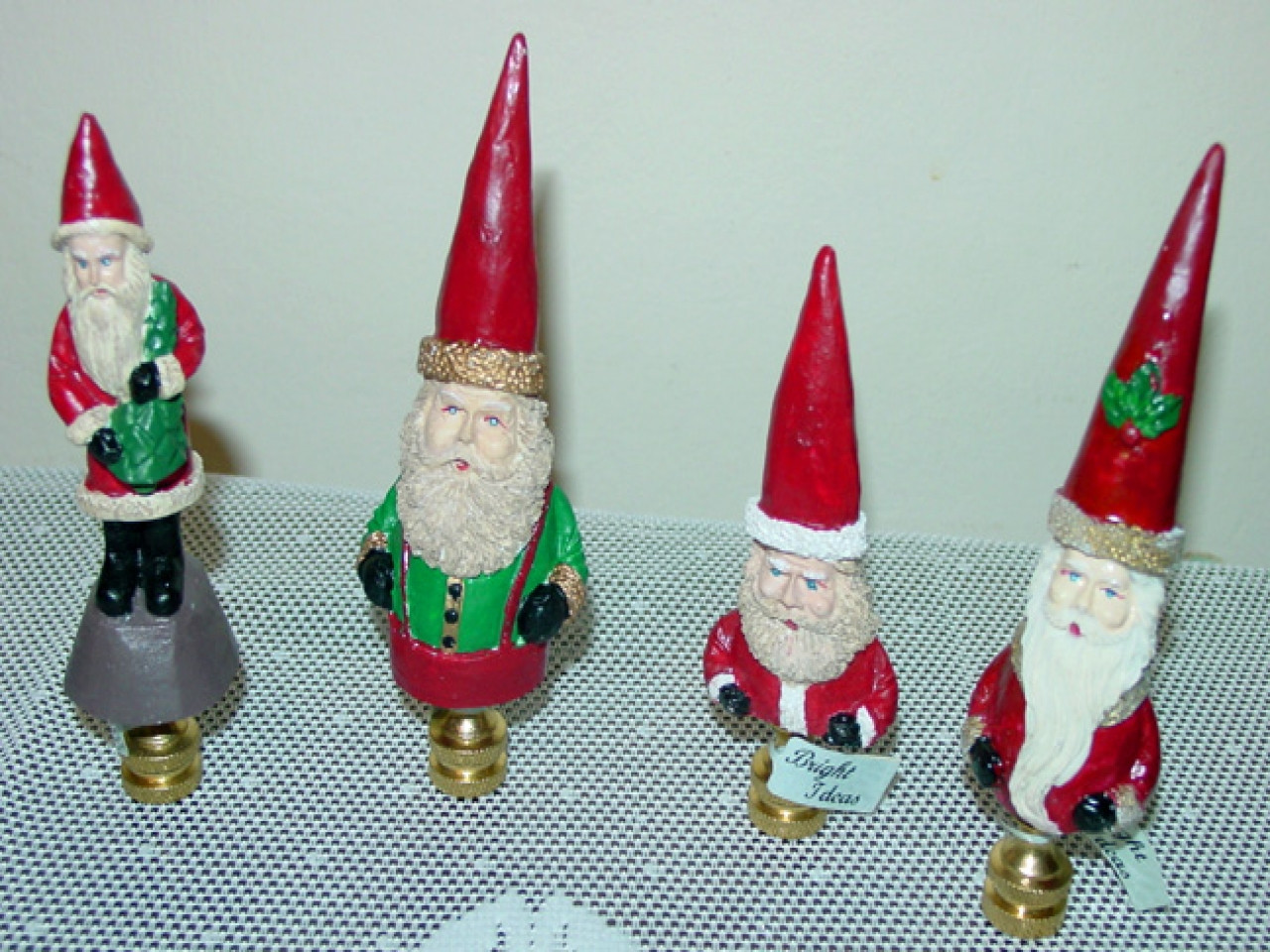 Christmas Lamp Finials  Table top finials finial christmas tree table christmas