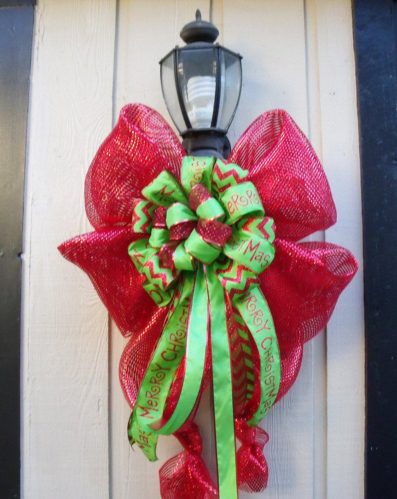 Christmas Lamp Post Decorations  XL Christmas Decoration For Lamp Posts Outdoor by LuxeWreaths