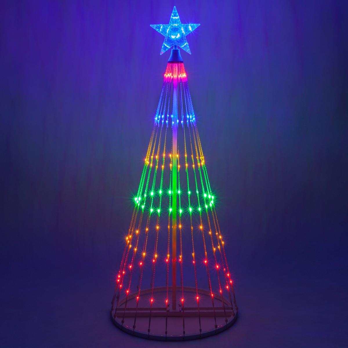 Christmas Lighting Videos  Multicolor LED Animated Outdoor Lightshow Tree