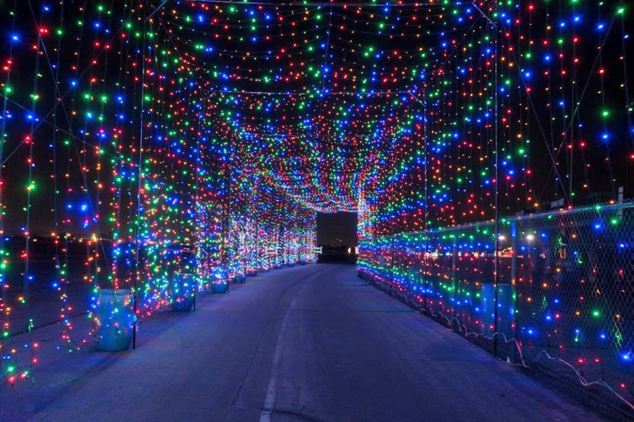Christmas Lighting Videos  This amazing light tunnel is opening just outside Toronto