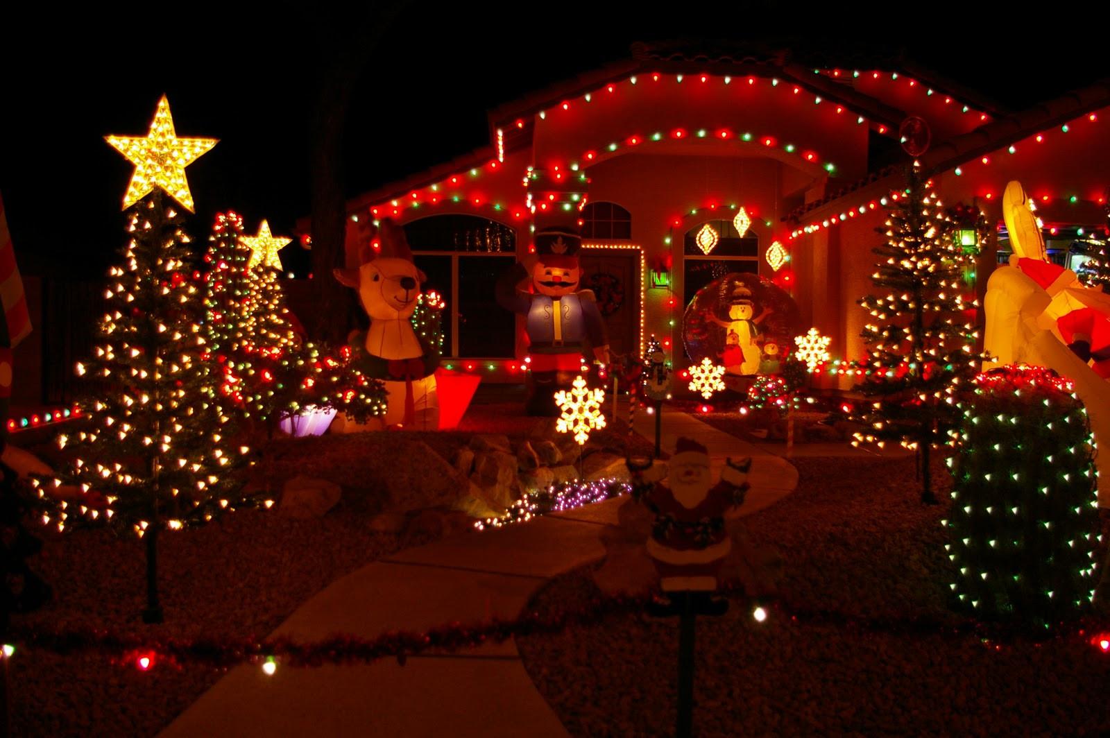 Christmas Lighting Videos  Christmas Lights House Wallpaper
