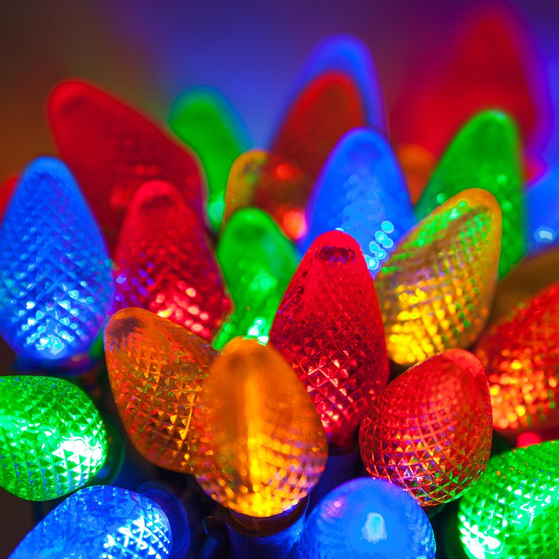 Christmas Lighting Videos  LED Christmas Lights 25 C7 Multi Color LED Christmas