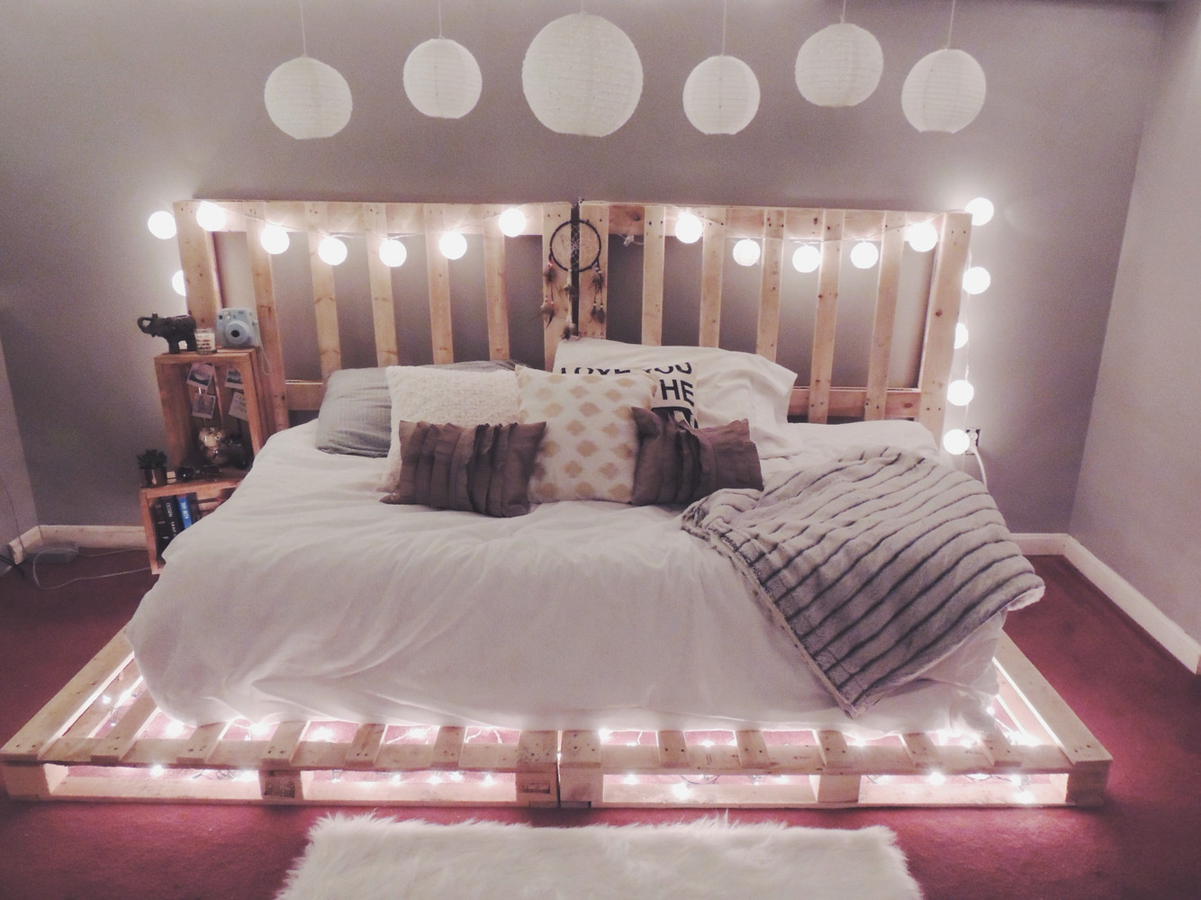 Christmas Lights In Bedroom  Picture ideas to hang christmas lights in a bedroom