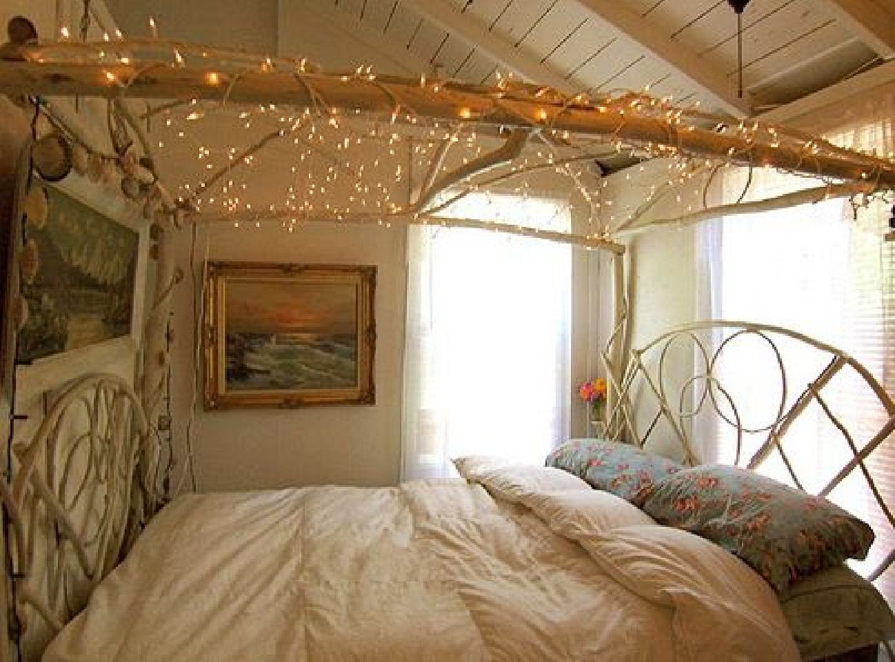Christmas Lights In Bedroom  DIY Inspirations A Canopy Bed • Breakfast With Audrey