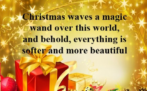 Christmas Magic Quote  Magic Christmas Quotes QuotesGram