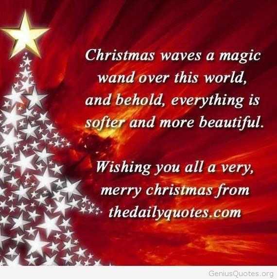 Christmas Magic Quote  Christmas magic quote 2015 quote Genius Quotes