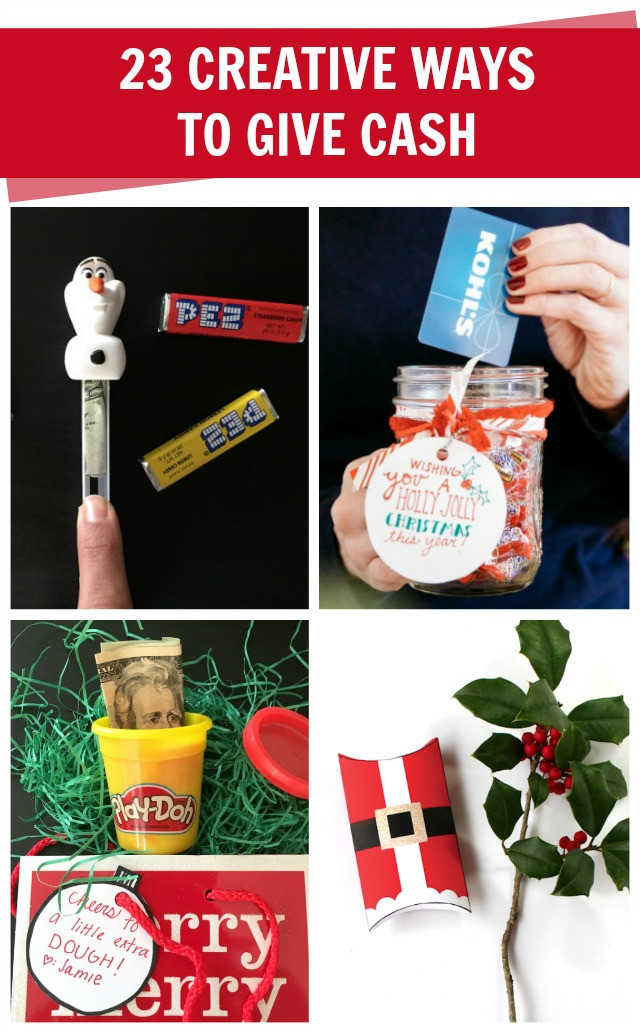 Christmas Money Gift Ideas  How to Give Cash Creatively C R A F T