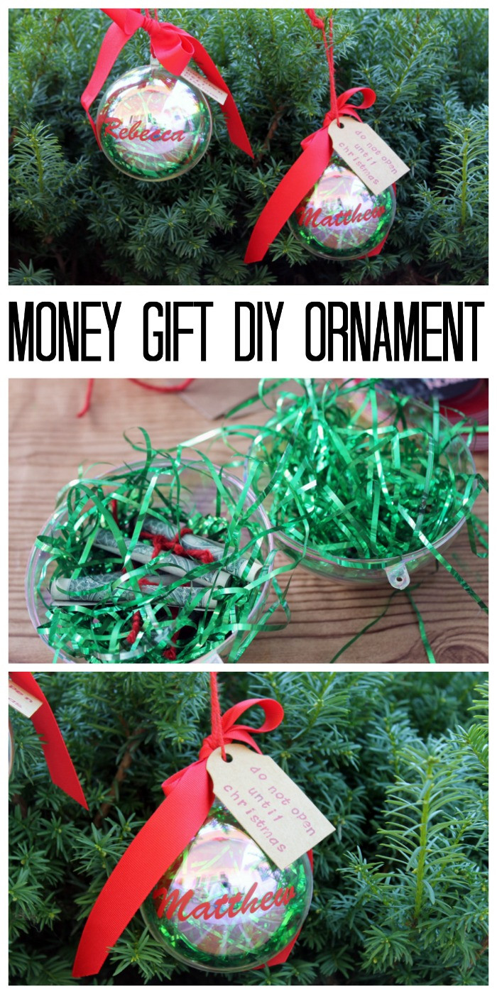 Christmas Money Gift Ideas  Money Gift DIY Ornament The Country Chic Cottage
