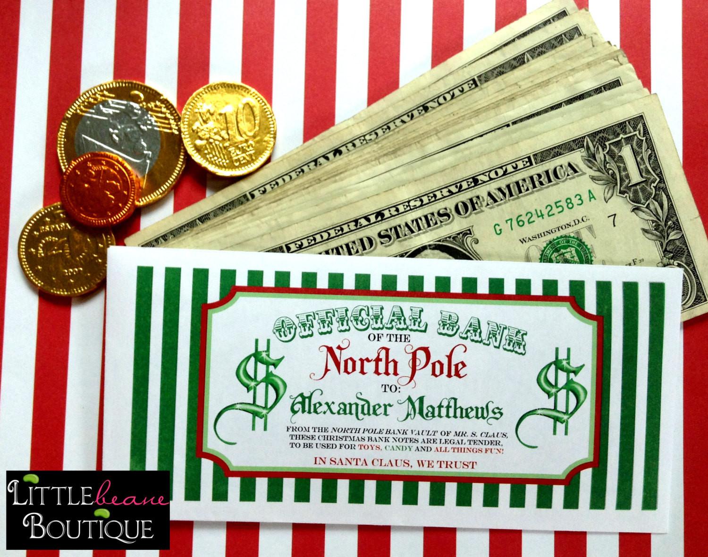 Christmas Money Gift Ideas  Personalized Christmas Money Envelopes Money Gift 6 designs