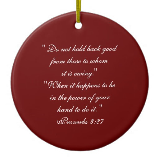 Christmas Ornament Quotes  Bible Principles Quotes Double Sided Ceramic Round
