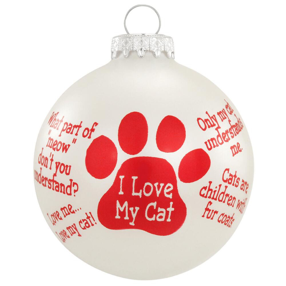 Christmas Ornament Quotes  Cat Sayings Ornament Animal