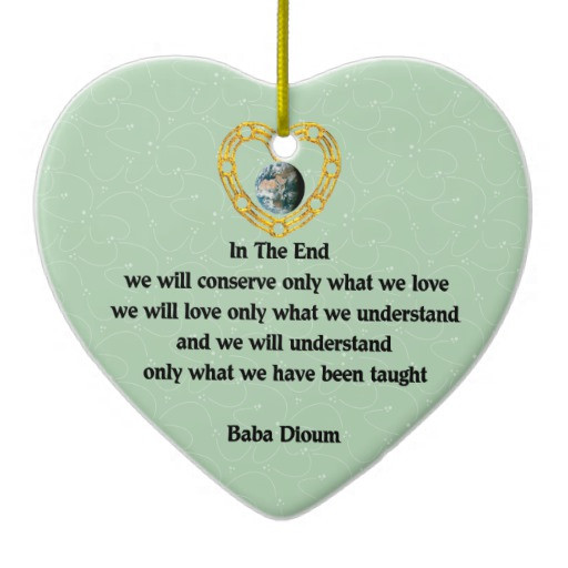 Christmas Ornament Quotes  Baba Dioum Quote Double Sided Heart Ceramic Christmas
