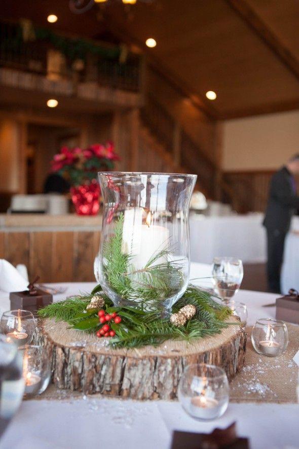 Christmas Party Centerpiece Ideas  Winter wedding ideas