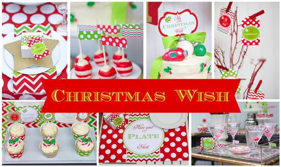 Christmas Party Centerpiece Ideas  Items similar to CHRISTMAS Party Decorations PRINTABLE