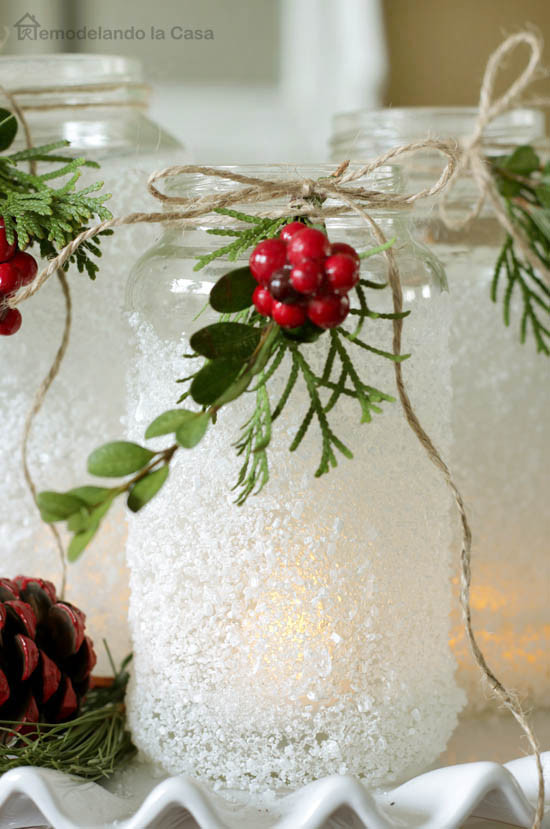 Christmas Party Centerpiece Ideas  Mason Jar Christmas Decorating Ideas Clean and Scentsible