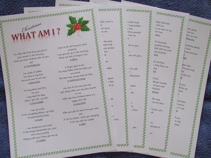Christmas Party Entertainment Ideas For Adults  Adult Christmas Party Game Fun Xmas Entertainment Idea