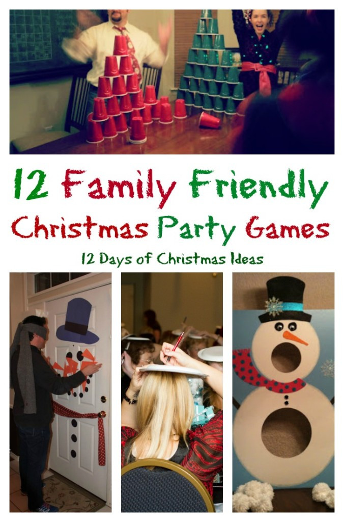 Christmas Party Game Ideas For Kids  12 Days of Christmas 12 Family Friendly Party Games – My