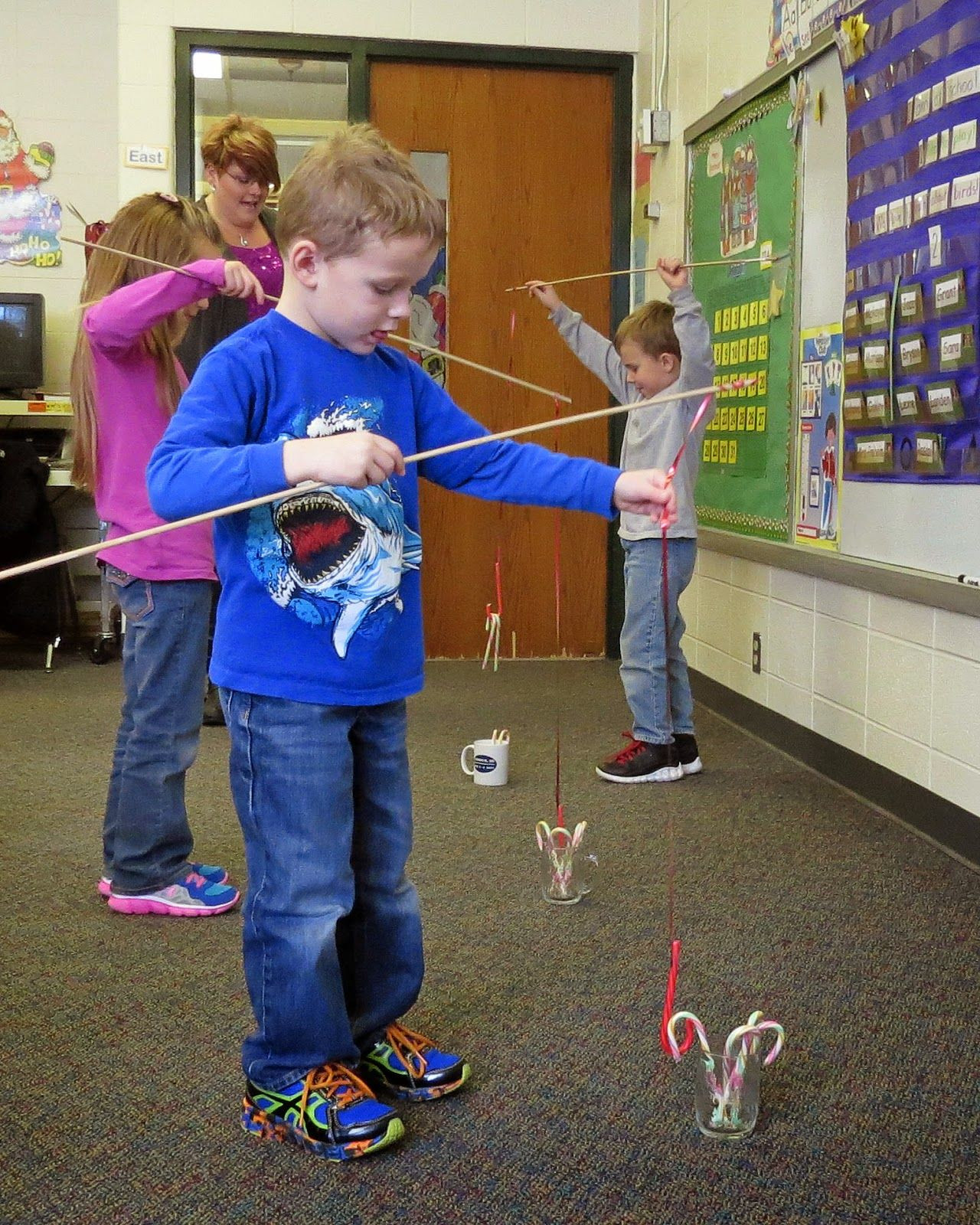 Christmas Party Game Ideas For Kids  Candy cane fishing …