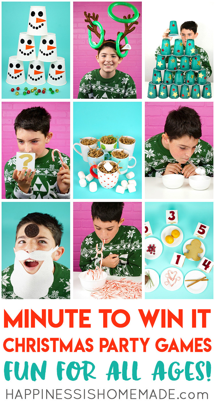 Christmas Party Game Ideas For Kids  Minute to Win It Christmas Games for All Ages Happiness