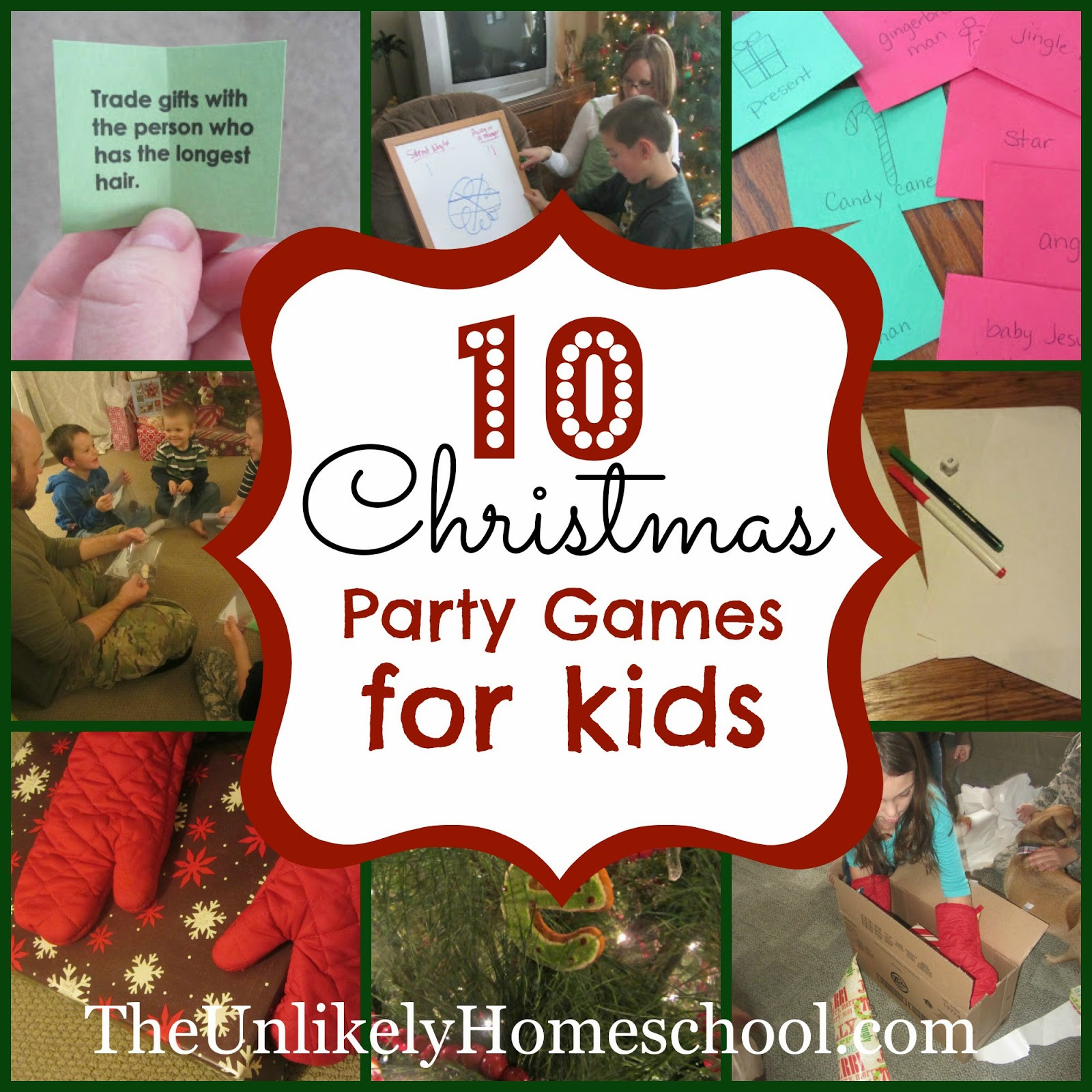 Christmas Party Game Ideas For Kids  The Unlikely Homeschool 10 Christmas Party Games for Kids