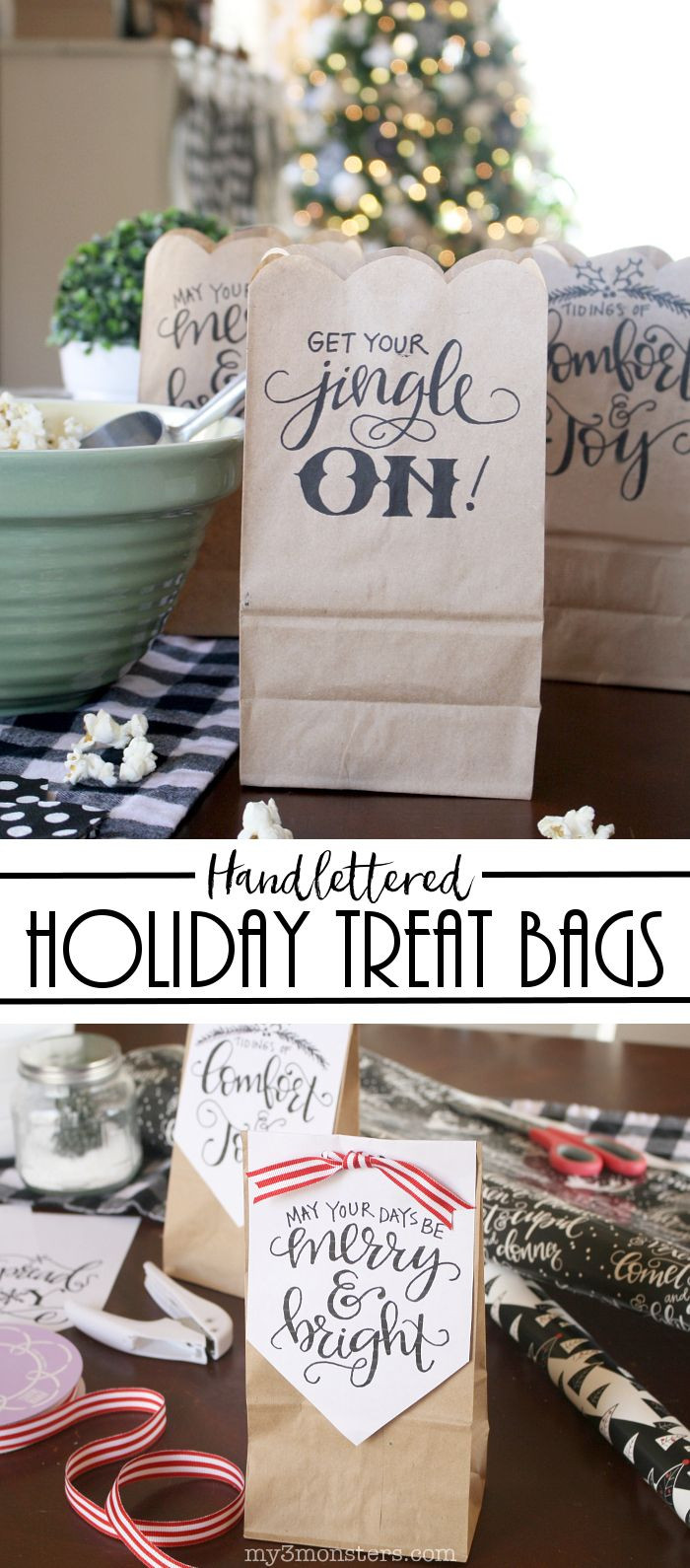 Christmas Party Goodie Bag Ideas  Best 25 Christmas treat bags ideas on Pinterest